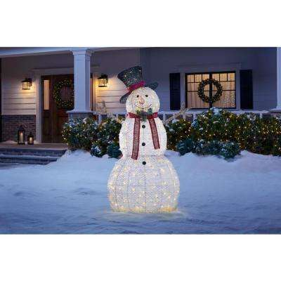 5 ft LED Snowman with Hat