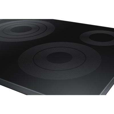 30 in. Radiant Electric Cooktop in Fingerprint Resistant Black Stainless with 5 Elements, Rapid Boil and Wi-Fi