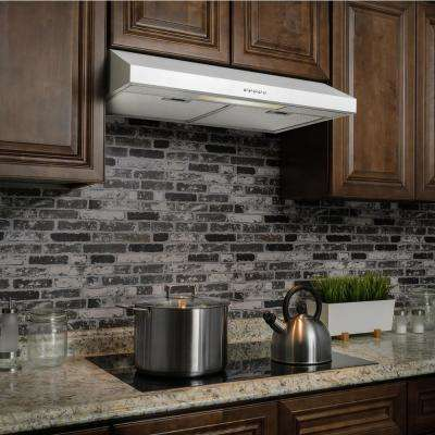 30 in. 58 CFM Convertible Under Cabinet Range Hood in White with Light and Carbon Filters