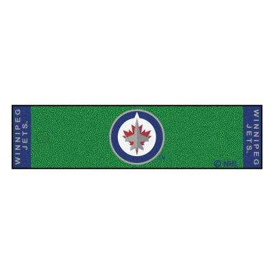 NHL Winnipeg Jets 1 ft. 6 in. x 6 ft. Indoor 1-Hole Golf Practice Putting Green
