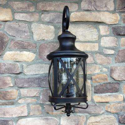 Taysom 3-Light Oil-Rubbed Bronze Outdoor Sconce