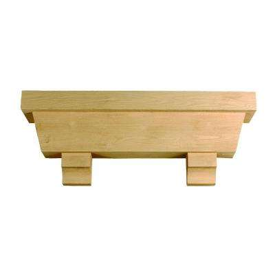48 in. x 18 in. x 10 in. Tapered Pot Shelf with Wood Grain Texture Block