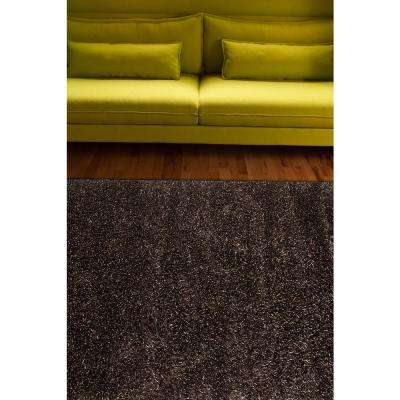 Shag Jet Black 5 ft. x 8 ft. Solids Area Rug