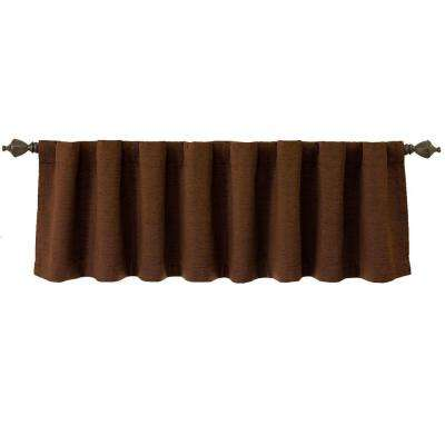 National Sleep Foundation Room Darkening 18 in. L Polyester Valance in Chocolate