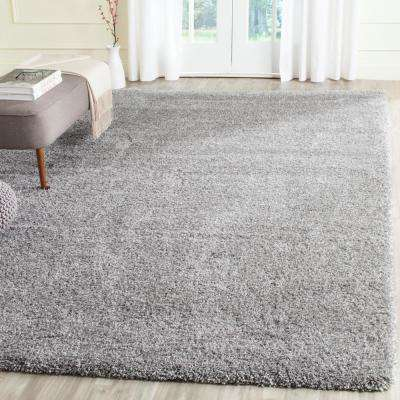 California Shag Silver 8 ft. x 10 ft. Area Rug