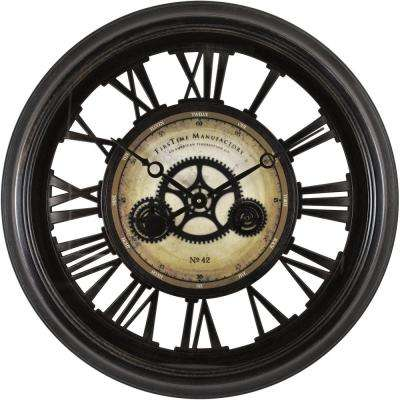 24 in. Round Gear Works Wall Clock