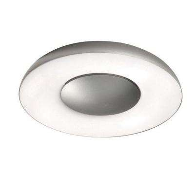 Element 1-Light Brushed Nickel Ceiling/Wall Flushmount Sconce