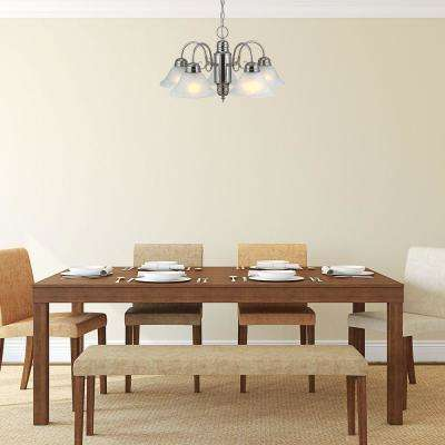Millbridge 5-Light Satin Nickel Chandelier