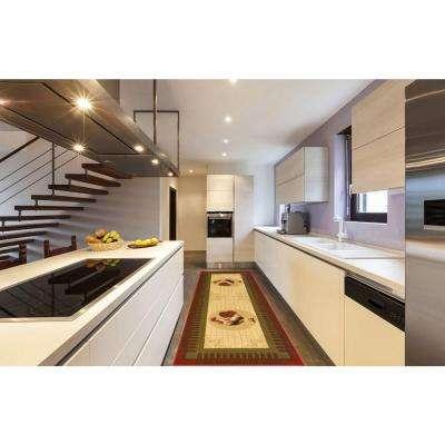 Siesta Kitchen Collection Rooster Design Beige 1 ft. 8 in. x 4 ft. 11 in. Runner