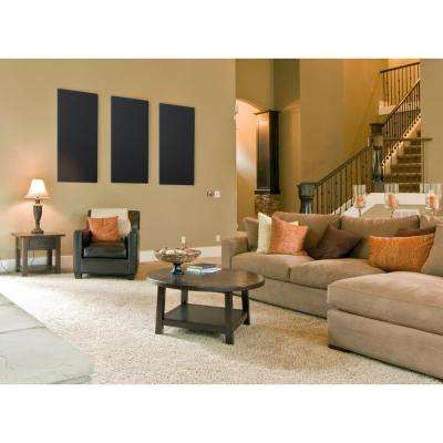 Blue Fabric Rectangle 24 in. x 48 in. Sound Absorbing Acoustic Insulation Wall Panels (2-Pack)