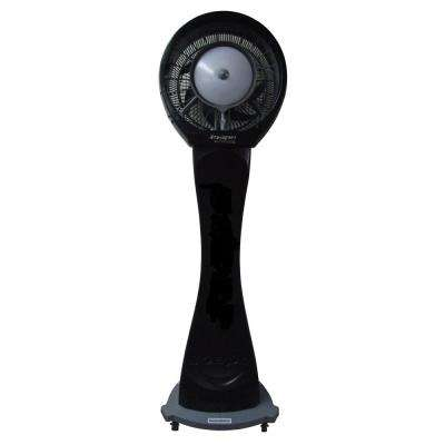 Copacabana 29 in. Reservoir Misting Fan in Black, Cools 1,500 sq. ft.