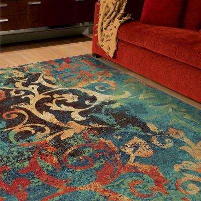 Watercolor Scroll Multi 8 ft. x 11 ft. Indoor Area Rug