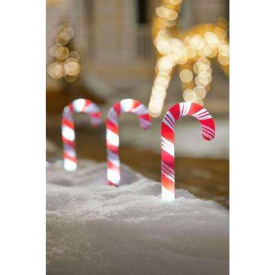 10 in. Candy Cane Pathway Lights (Set of 8)