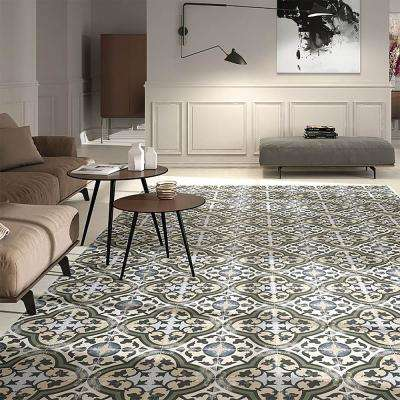 Evoque Carthusian Encaustic 9-3/4 in. x 9-3/4 in. Porcelain Floor and Wall Tile (11.11 sq. ft. / case)