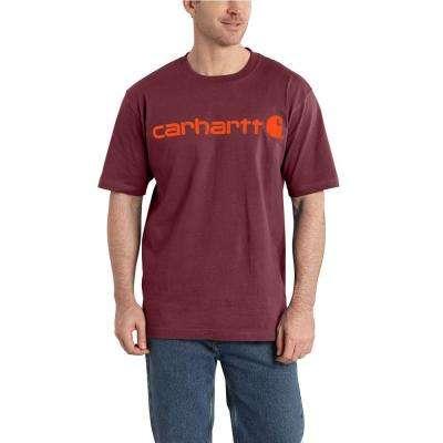 Men's Cotton/Polyester Signature Logo Short Sleeve Midweight Jersey T-Shirt