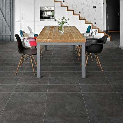 Malaga Dark Gray 12 in. x 24 in. 9.5mm Matte Porcelain Floor and Wall Tile (8-piece 15.49 sq. ft. / box)