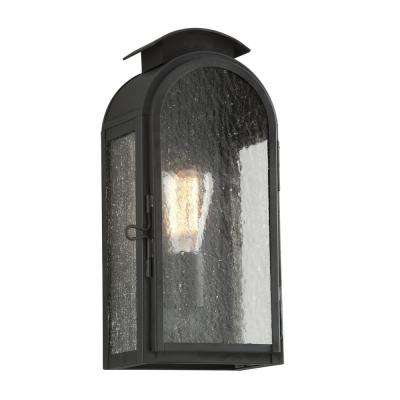 Copley Square Charred Iron Outdoor Wall Mount Sconce