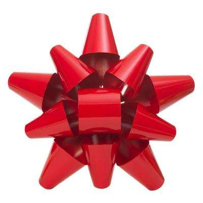 19 in. Red Metal Bow
