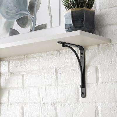 6 in. x 8 in. Oil-Rubbed Bronze Classic Arch Decorative Shelf Bracket