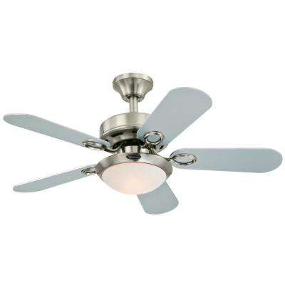 Cassidy 36 in. Indoor Brushed Nickel Finish Ceiling Fan
