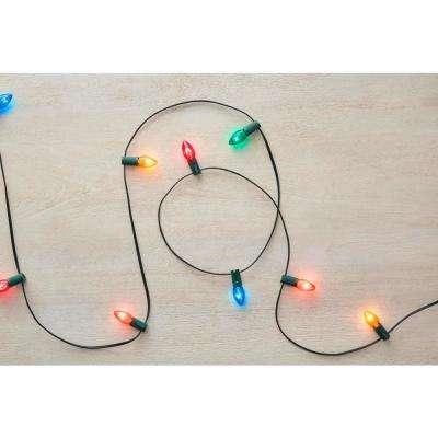 C7 25-Light Multi-Color Incandescent Light String