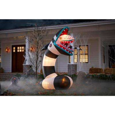 9.5 ft. Pre-Lit Beetlejuice Sandworm Animated Airblown Inflatable