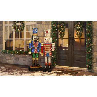 Toasty Tinsel 72 in. LED Tinsel Nutcracker