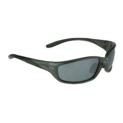 Gray Slim Frame Safety Glasses with Silver Mirror Lens