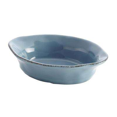 Cucina Stoneware 12 oz. Oval Au Gratin in Agave Blue