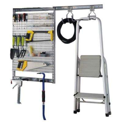 16 in. H x 25 in. W Pegboard Set with Utility Garage Kit (30-Piece)