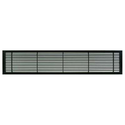 AG20 Series 4 in. x 24 in. Solid Aluminum Fixed Bar Supply/Return Air Vent Grille, Black-Matte