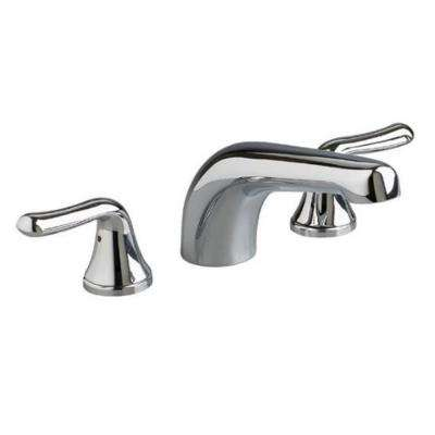 Colony Soft Lever 2-Handle Deck-Mount Roman Tub Faucet Trim Kit in Satin Nickel (Valve Sold Separately)