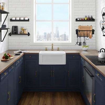 Delice Farmhouse Kitchen Sink Ceramic Composite 24 in. x 18 in. Single Bowl in White