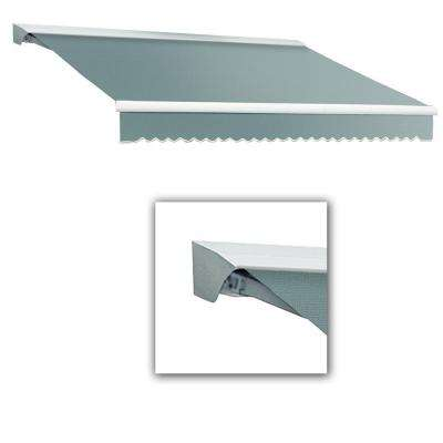 16 ft. LX-Destin with Hood Right Motor/Remote Retractable Acrylic Awning (120 in. Projection) in Sage