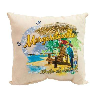 Port of Indecision Square Outdoor Throw Pillows