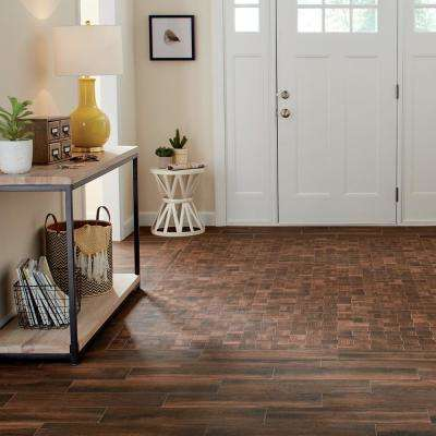 Autumn Wood Modern Weave 12 in. x 12 in. x 8mm Glazed Porcelain Mosaic Tile (0.96 sq. ft. / piece)