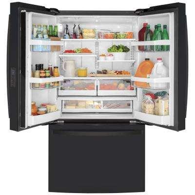 23.1 cu. ft. French Door Refrigerator in Black Slate, Fingerprint Resistant, Counter Depth and ENERGY STAR