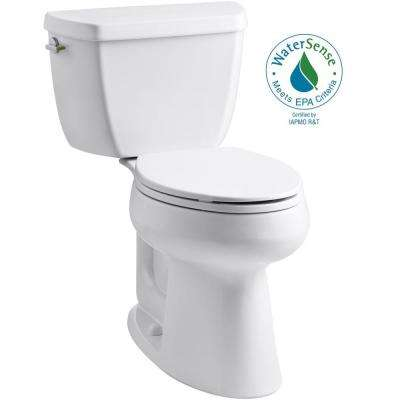 Highline Complete Solution 2-piece 1.1 GPF Dual Flush Elongated Toilet in White