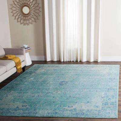 Valencia Teal/Multi 9 ft. x 12 ft. Area Rug