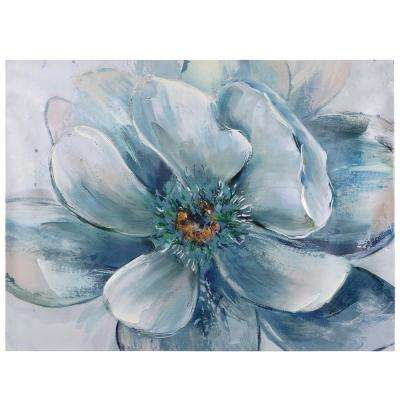 "24 in. x 32 in. ""Full Flower"" Printed Canvas Wall Art"