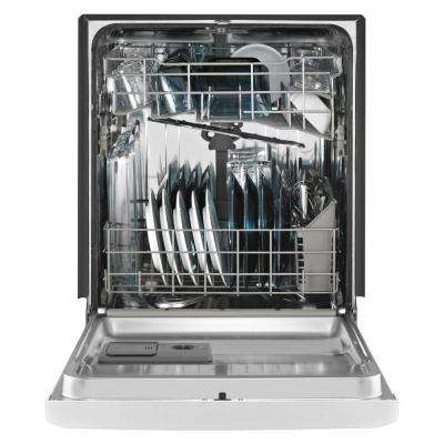 24 in. Front Control Built-in Tall Tub Dishwasher in Black with Stainless Steel Tub and Steam Cleaning