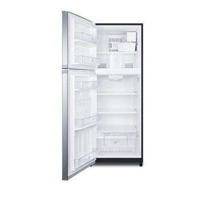 12.9 cu. ft. Top Freezer Refrigerator in Stainless Steel