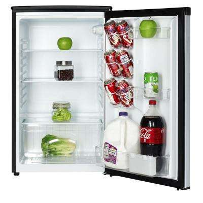 4.4 cu. ft. Mini Fridge with Freezerless Design in Stainless Steel