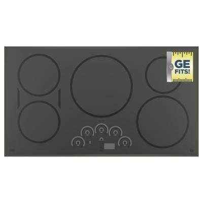 GE 36 in. Electric Induction Cooktop in Stainless Steel with 5 Elements GE