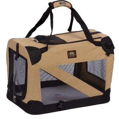 Khaki 360 Degree Vista-View Soft Folding Collapsible Crate - X-Small