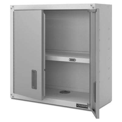 Ready to Assemble 28 in. H x 28 in. W x 12 in. D Steel Garage Wall Cabinet in White