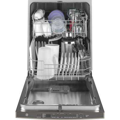 24 in. Top Control Built-In Tall Tub Dishwasher in Black Slate with Steam Prewash, Fingerprint Resistant, 50 dBA