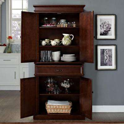 MDF Parsons Pantry Cabinet in Mahogany