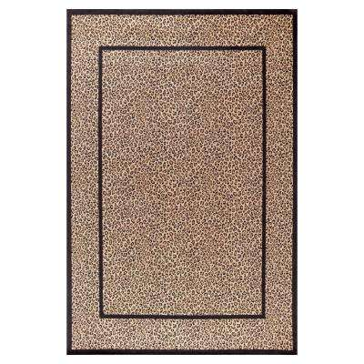 Jewel Leopard Beige 5 ft. 3 in. x 7 ft. 7 in. Area Rug