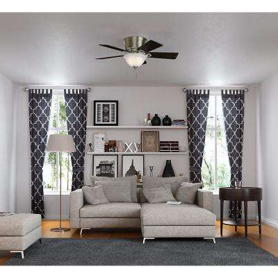 Conroy 42 in. Indoor Antique Pewter Low Profile Ceiling Fan with Light Kit